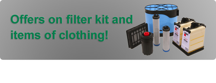 Offers on filter kit and items of clothing